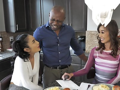 Black dude hard pumps these Asian sluts in censorious manners