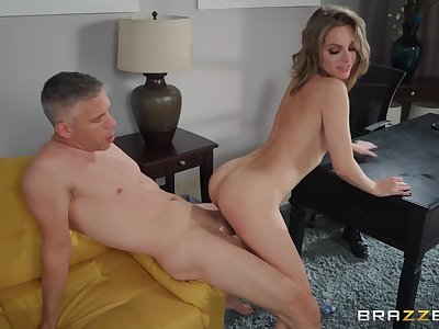 after a blowjob pretty Kimmy Granger can't wait to jump on a hard penis