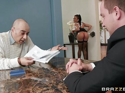 facial after amazing fuck on the floor is all that Kira Noir wants