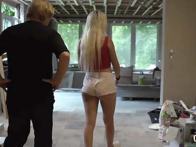Hot teen blonde gets hardcore fucked by very old man