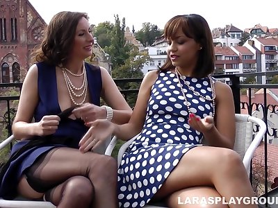 Lara's Lesbian Playtime With Hot Teen Nymphette