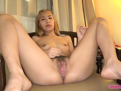 Asian Blond Hair Latitudinarian Gets Creampied - enduring pedestal